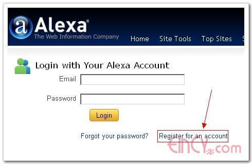 alexa提交网站信息